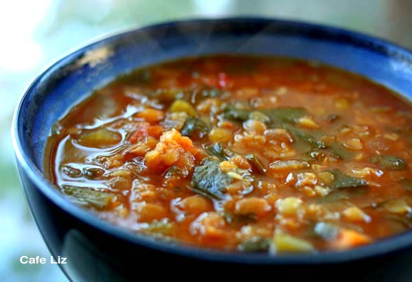 Lentil vegetable soup – Cafe Liz