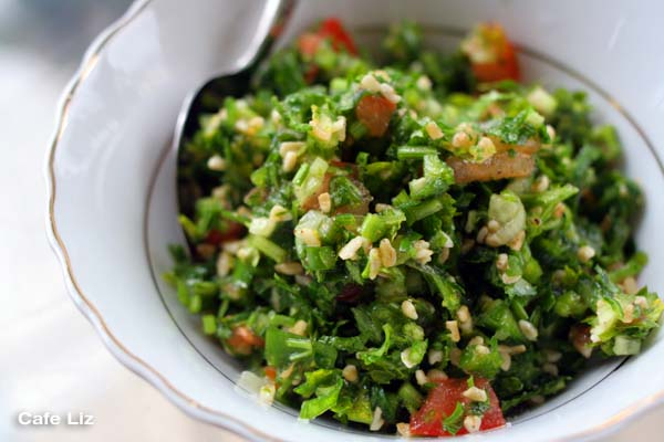 Tabouleh — chopped parsley salad – Cafe Liz