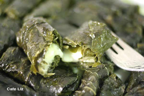 Grape Leaves Stuffed With Mozzarella And Sheep Cheese Cafe Liz