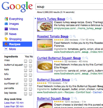 google-recipe-search